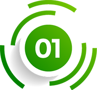 Cool Circular Green Vector image depicting number one