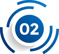 Cool Circular Blue Vector image depicting number two
