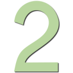 Green Vector of number two