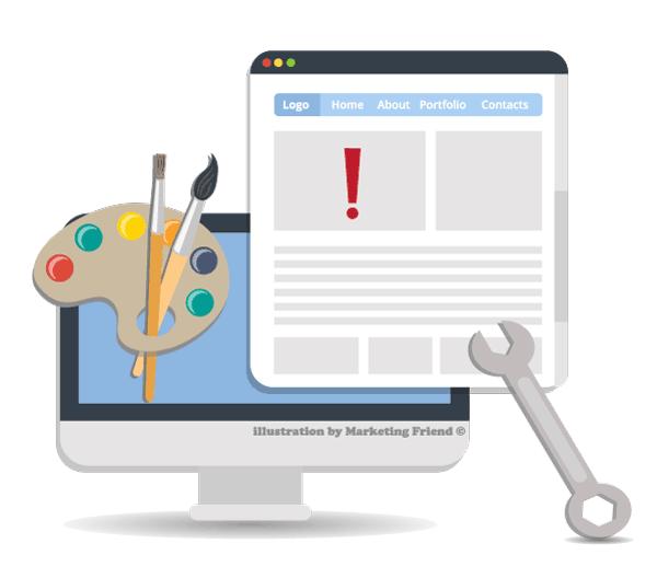 Γραφιστικό για επισκευή ιστοσελίδων από εταιρία σχεδιασμού ιστοσελίδων marketing friend στο Περιστέρι, Πατήσια, Αθήνα